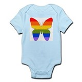 Rainbow Butterfly Infant Creeper