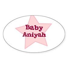 Baby Aniyah Oval Decal
