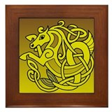 Celtic Sea Horse design on a framed tile
