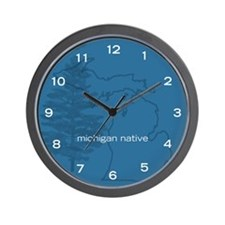 Michigan Native wall clock