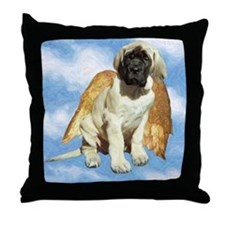 Mastiff Angel Pup Throw Pillow