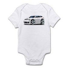 Dodge Magnum White Car Infant Bodysuit
