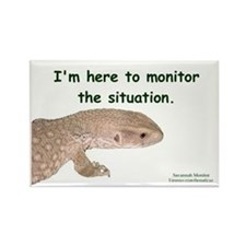 Savannah Monitor Rectangle Magnet
