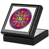 OM MANDALA Keepsake Box
