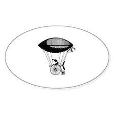 Steampunk derigicycle Oval Decal