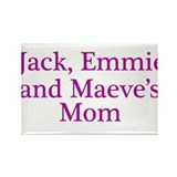 Jack Emmie Maeve Mom Rectangle Magnet