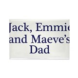 Jack Emmie Maeve Dad Rectangle Magnet