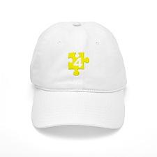 Yellow Jigsaw Number Four Baseball Cap