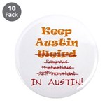 "Keep Austin 3.5"" Button (10 pack)"