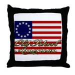 Old School American Throw Pillow