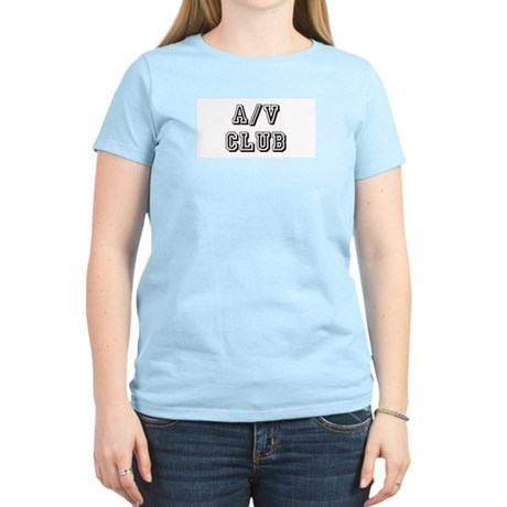 A/V Club Women's Pink T-Shirt