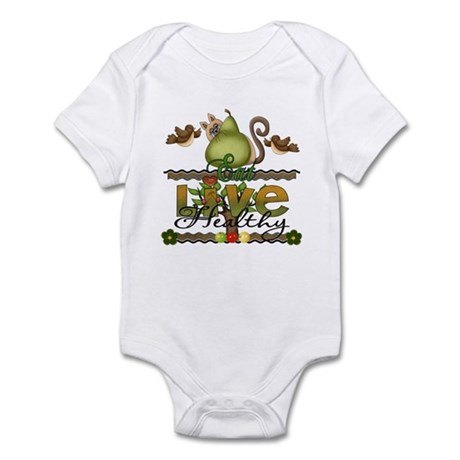 eat and live healthy Infant Bodysuit