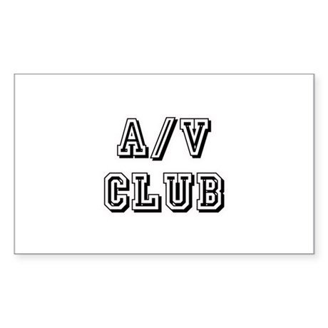 A/V Club Rectangle Sticker