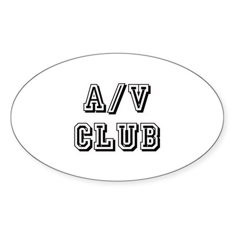 A/V Club Oval Sticker