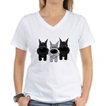 Schnauzer Nose/Butt Women's V-Neck T-Shirt