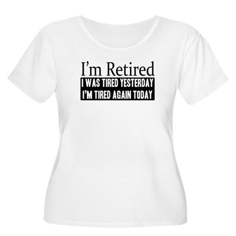 Retired - Tired Again Women's Plus Size Scoop Neck