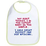 My Aunt Loves Me Because... Bib