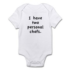 """Two Personal Chefs"" Infant Bodysuit"