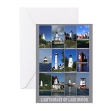 Lighthouses of Lake Huron Greeting Cards (Pk of 10