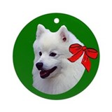 Samoyed christmas Ornament (Round)