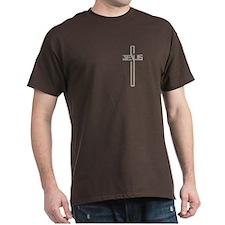 Gold Diamond Jesus Cross T-Shirt