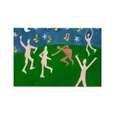 Cute Nudist camp Rectangle Magnet
