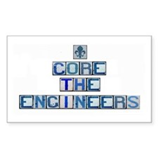Core the Engineers Rectangle Decal