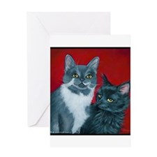 Cats Gus & Jojo Greeting Card