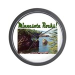 Minnesota Rocks! Wall Clock