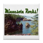 Minnesota Rocks! Tile Coaster