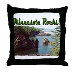 Minnesota Rocks! Throw Pillow