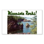Minnesota Rocks! Rectangle Sticker