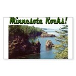 Minnesota Rocks! Rectangle Sticker 50 pk)
