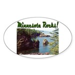Minnesota Rocks! Oval Sticker (10 pk)