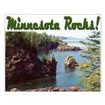 Minnesota Rocks! Small Poster