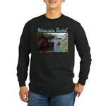 Minnesota Rocks! Long Sleeve Dark T-Shirt