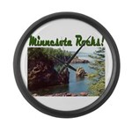 Minnesota Rocks! Large Wall Clock
