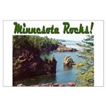 Minnesota Rocks! Large Poster