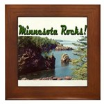 Minnesota Rocks! Framed Tile