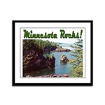 Minnesota Rocks! Framed Panel Print