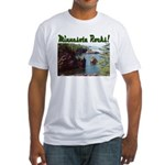 Minnesota Rocks! Fitted T-Shirt