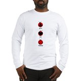 Peace, love, ladybugs Long Sleeve T-Shirt