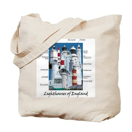 Lighthouses of England Tote Bag