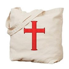 Bright Red Cross Tote Bag