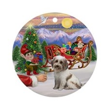 Tibetan Terrier Treat Ornament (Round)