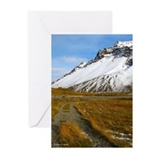Blank Icelnad Mountain Cards, 5x7, Vertical