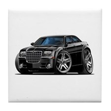 Chrysler 300 Black Car Tile Coaster