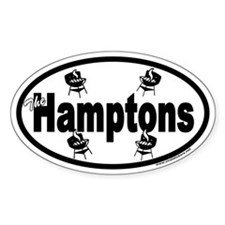 The Hamptons Euro Oval Decal