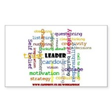 Leadership Traits Colour Rectangle Decal