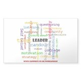 Leadership Traits Colour Rectangle Sticker 10 pk)